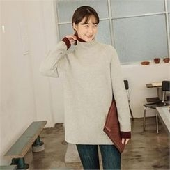 JOAMOM - Mock-Neck Raglan-Sleeve Knit Top