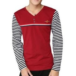 Fesso - Long-Sleeve Striped Top