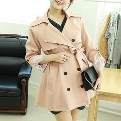 Dodostyle - Double-Breasted Trench Coat