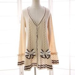 Reine - V-Neck Long Cardigan