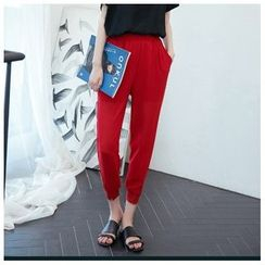 Cobogarden - Cuffed Chiffon Pants
