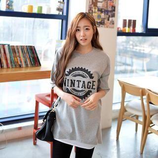 CLICK - Oversized Letter Print T-Shirt