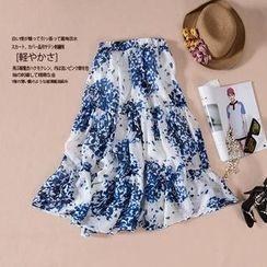 Chifo - Printed Maxi Silk Skirt