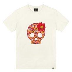 the shirts - Flower-Skull Print T-Shirt