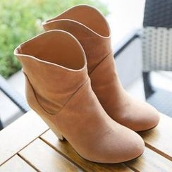 REDOPIN - Faux-Suede Ankle Boots