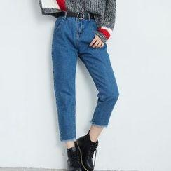 BAIMOMO - 短款牛仔褲