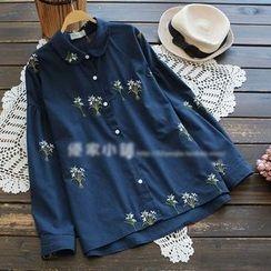YOYO - 刺繡襯衫