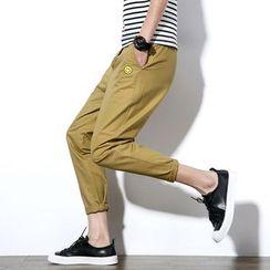 Masowild - Drawstring Slim Fit Pants