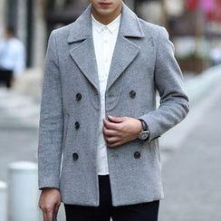 WOOG - Notch Lapel Double-Breasted Jacket