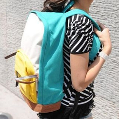 Bagolo - Color-Block Canvas Backpack
