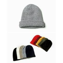 STYLEMAN - Colored Waffle-Knit Beanie