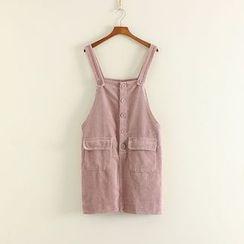 三木社 - 灯芯绒背带裙