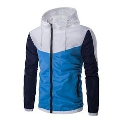 Fireon - Color Block Hooded Windbreaker