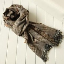 Ringnor - Fringed Plaid Scarf