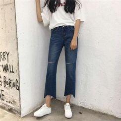 EEKO - Cropped Wide Leg Jeans