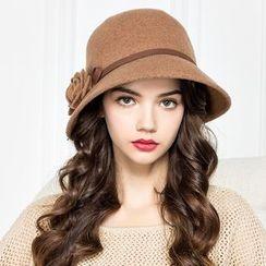 BADA - 不对称帽型羊毛呢礼帽