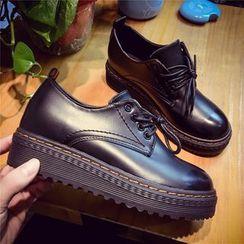 Wello - 繫帶厚底鞋