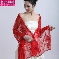 Luxury Style - Sequined Bridal Shawl