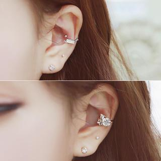 soo n soo - Rhinestone Double Ear Cuff (3 Designs)