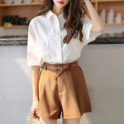 Ashlee - Set: Short-Sleeve Blouse + Shorts