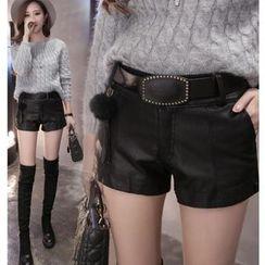MAVIS - Faux Leather Shorts