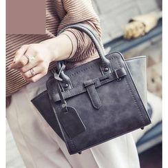 Youshine - Belted Trapezium Crossbody Bag