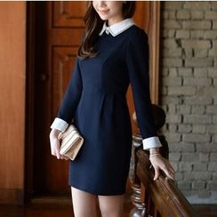 雅典娜 - 飾領連衣裙