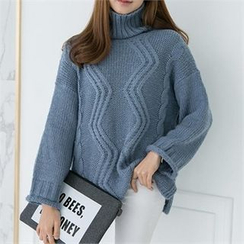 PEPER - Turtle-Neck Knit Top