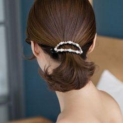 Amedama - Faux Pearl Hair Clip