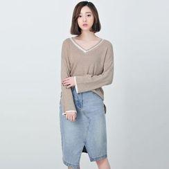 BORAN - V-Neck Knit Pullover