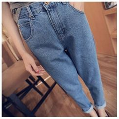 Oaksa - Washed Cropped Jeans