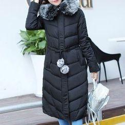 Donnae - Furry Trim Padded Coat