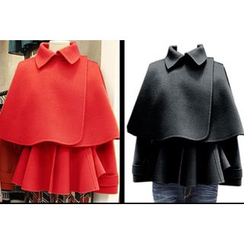 Dream Girl - Set: Cape Jacket + Sleeveless Peplum Top
