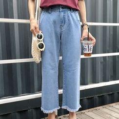 Dasim - 散口寬腿九分牛仔褲