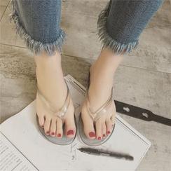 Wello - 透明夹趾拖鞋