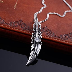 Trend Cool - Titanium Steel Feather Necklace