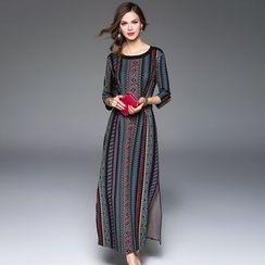 Queen Mulock - Printed Maxi Dress