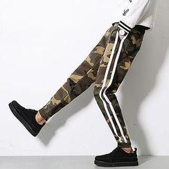 Seoul Boy - Camouflage Print Slim-Fit Pants