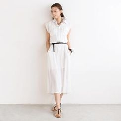 SO Central - Set: Long Tank Top + Maxi Shirtdress + Belt