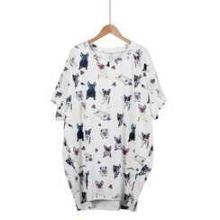 Momewear - Short-Sleeve Printed Dress