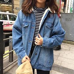 Sinbounboun - Fleece Lined Denim Jacket