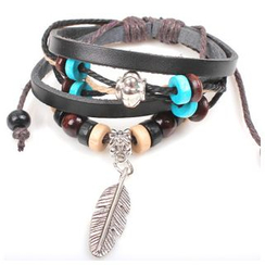 KINNO - Feather Genuine Leather Bracelet