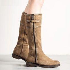 MIAOLV - Brogue Tall Boots