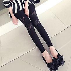 Yohana - Lace Panel Leggings