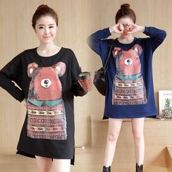 GLIT - Bear Print Long Sleeve Tunic