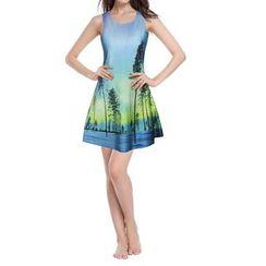 Omifa - Printed Tank Dress