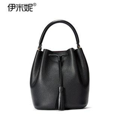 Emini House - Genuine Leather Bucket Bag