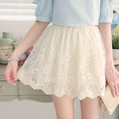 東京著衣 - 蕾絲裙褲