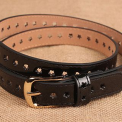 Yist! - Floral Faux Leather Belt