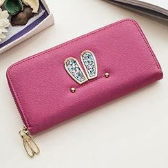 SUOAI - Rabbit Ear Faux Leather Long Wallet